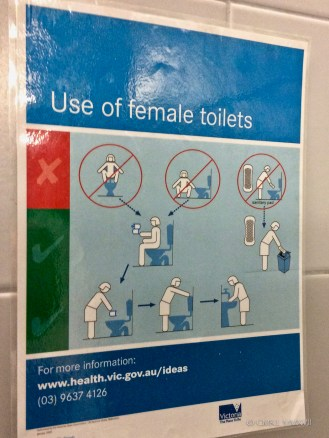 """Instructions for use of """"Female toilet"""""""
