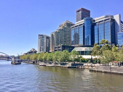 View from Sandridge bridge to Southbank