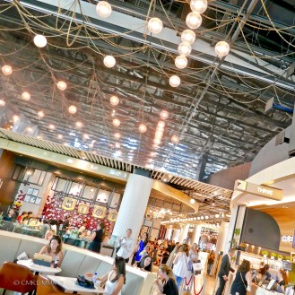 """Food-court on the 4th floor of the 5-floor """"Emporium"""" mall"""