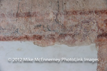 Edge of plaster that once covered the murals