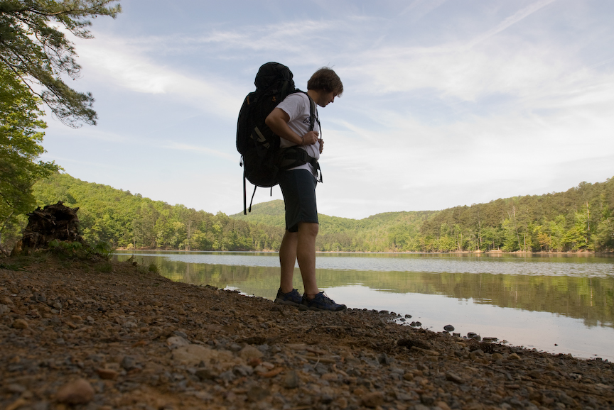 Backpacking on Mountain campus