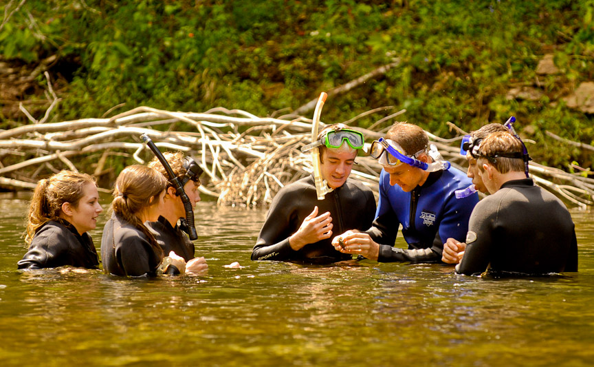 Snorkling on the Conasauga River