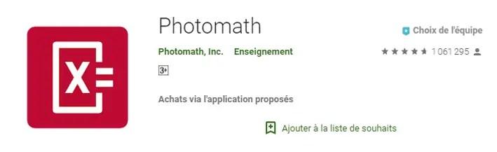 photomath math answer app
