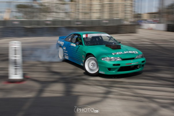 Darren McNamara running the Falken S14.  Last time I saw him running at Long Beach was 2 years back when he had his Saturn Sky coming at me during turn 10.  That was my first FD crash experience and happened to be 5 feet away from me.