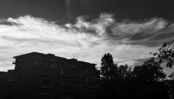 Claudio Manenti, vista dei tetti fuori da casa