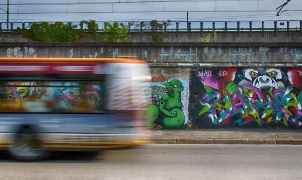 Andrea Mele 001, Graffiti e periferie Ortica, Bicocca, Sesto, Padova