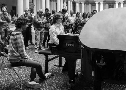 Daniela Borsari 005, Pianocity 2017, cortile della Pinacoteca di Brera
