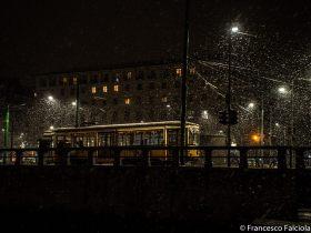 tram nella neve