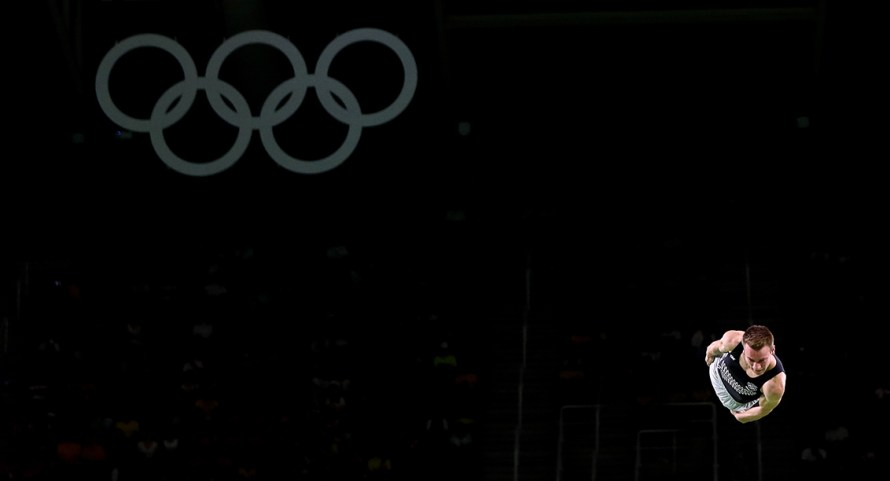 Rio 2016 Olympic games, Men's trampoline Gymnastics. August 2016. photo by Alessandro Trovati Pentaphoto