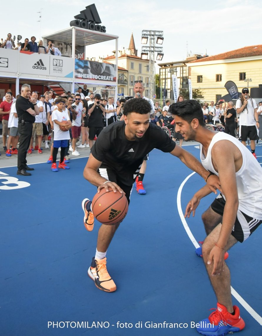 Jamal Murray ad adidas Playground Milano League, foto di Gianfranco Bellini
