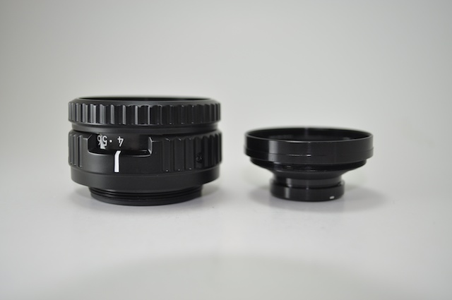 El-Nikkor 75mm f/4N partially disassembled