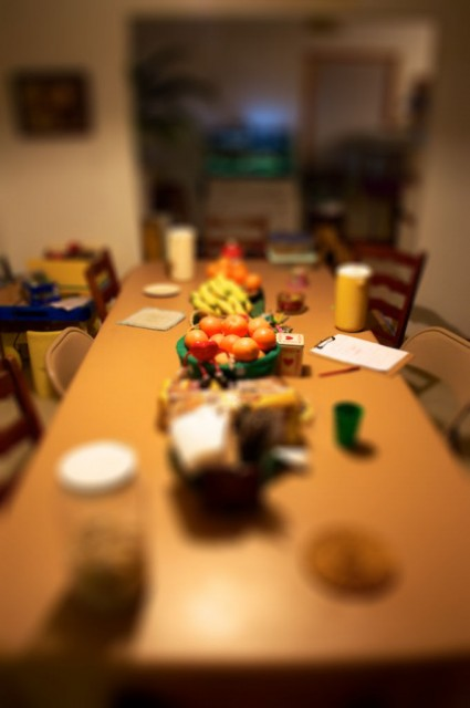 Table Clutter Tiltshift