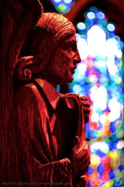 Heinz Chapel wood carving