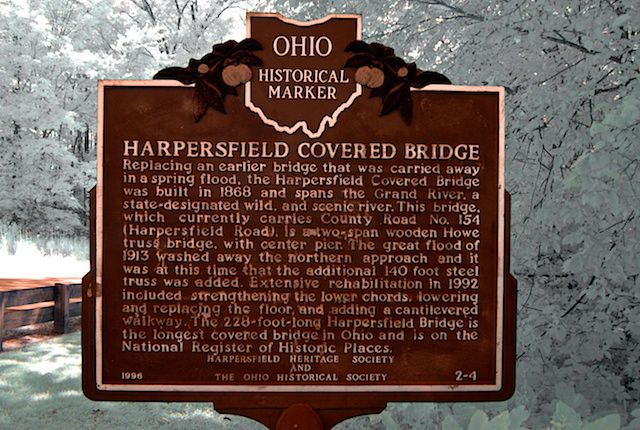 Harpersfield Bridge Historical Marker