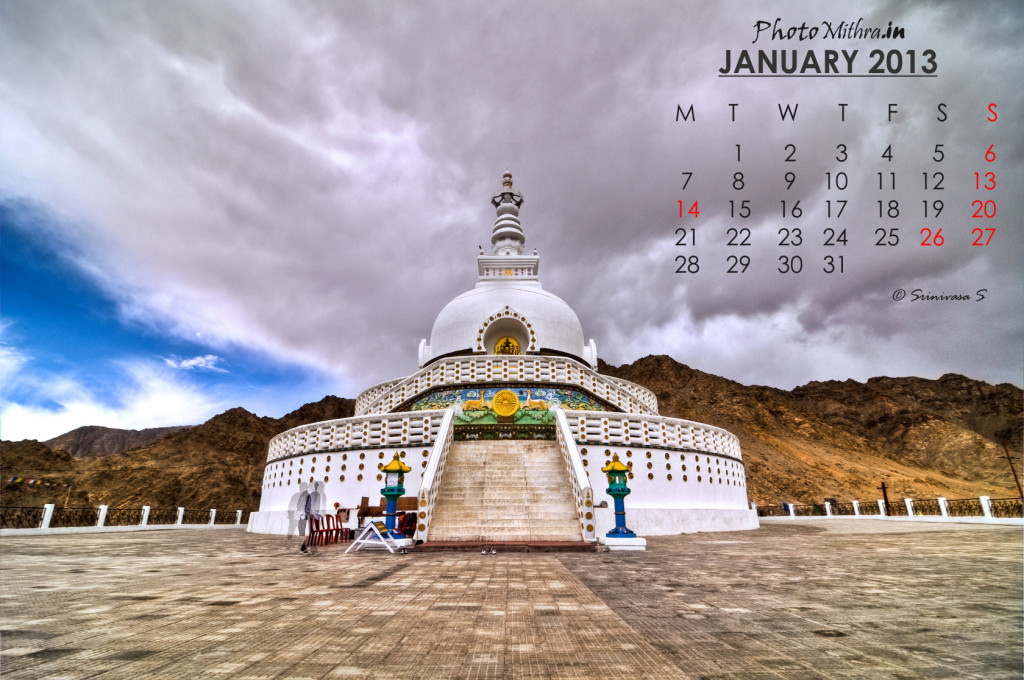 Calendar Wallpaper for January 2013