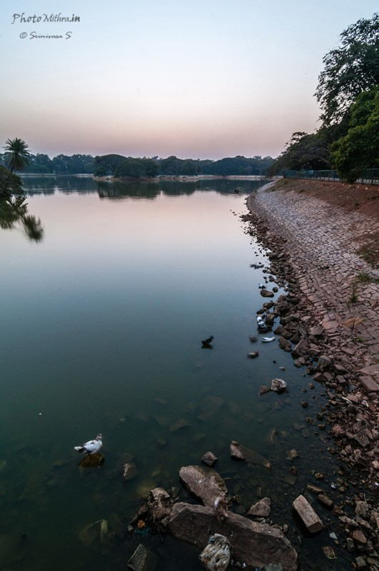 Lalbagh lake after sunset