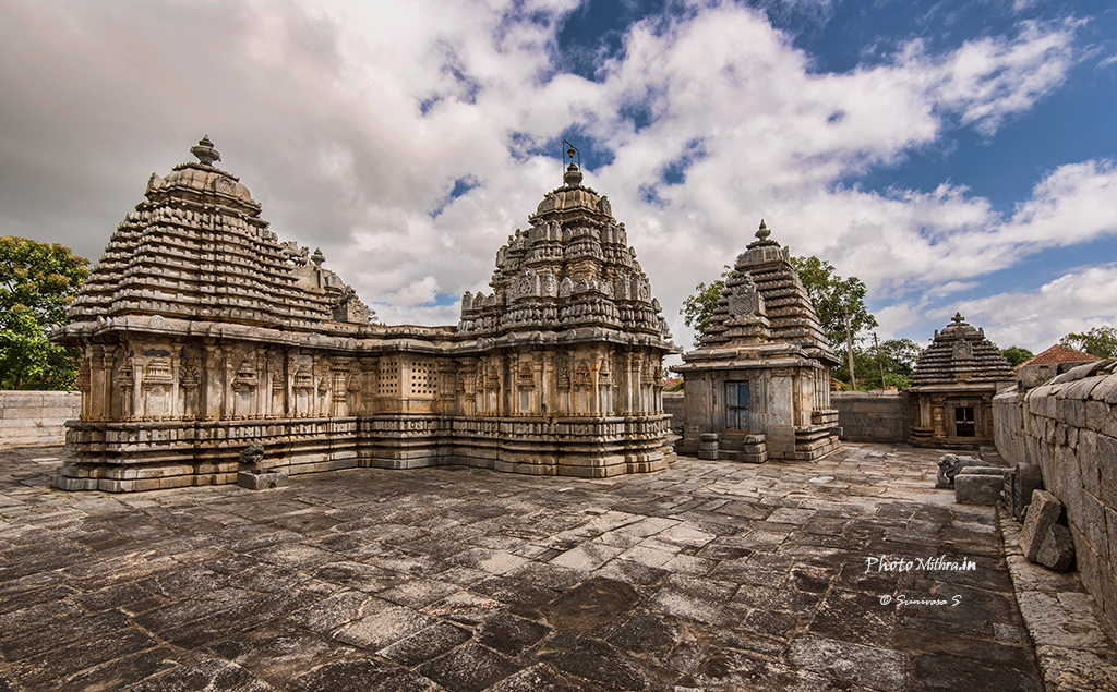 Towers of the Lakshmi devi temple at Doddagaddavalli