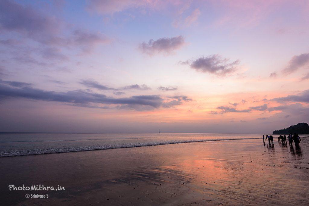 The signature view of Radhanagar beach