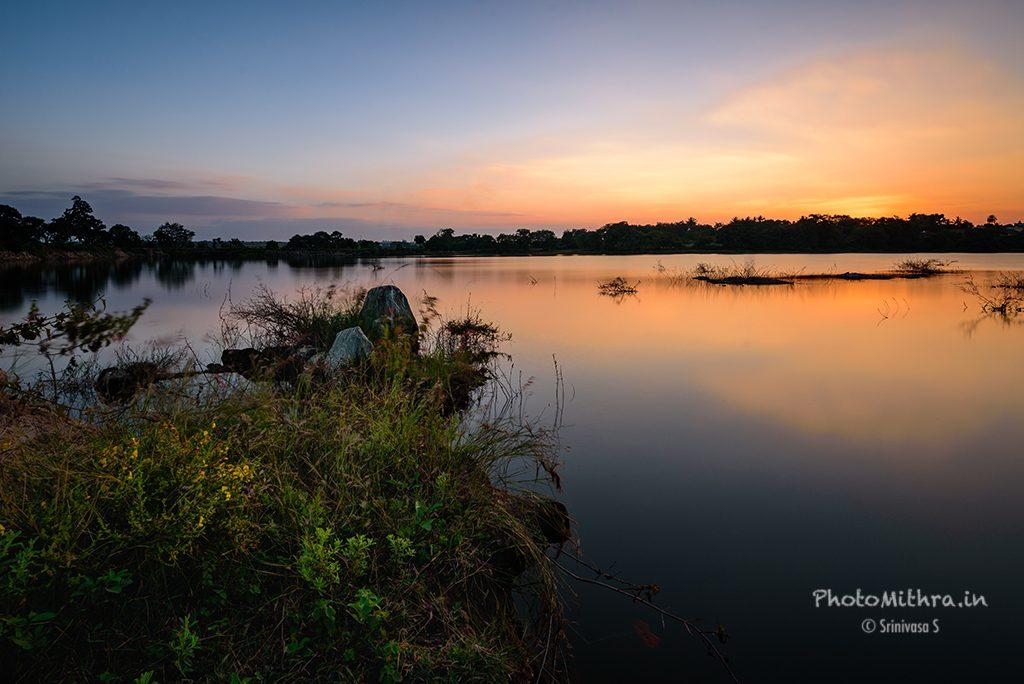 Lake Anamika at sunset