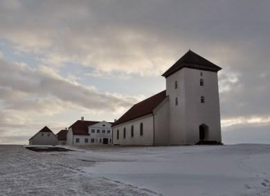 Résidentielle et son église à l'avant