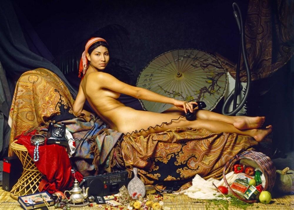 "Casalisca by Patrick Nicholas Art Photographer based on ""La Grande Odalisque"" by Ingres"