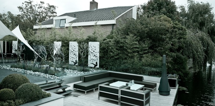 Dutch Garden Architecture and Photo Decor