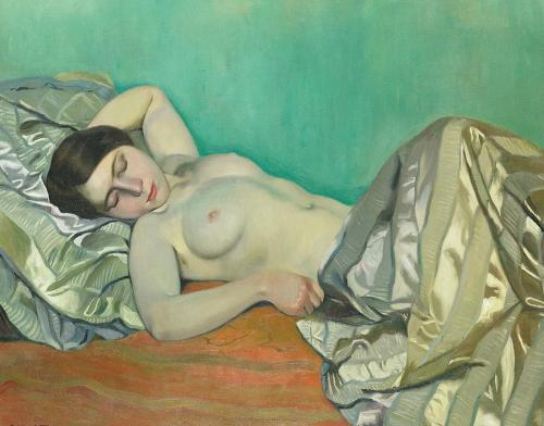 Reclining Woman - painting by Felix Vallotton 1913