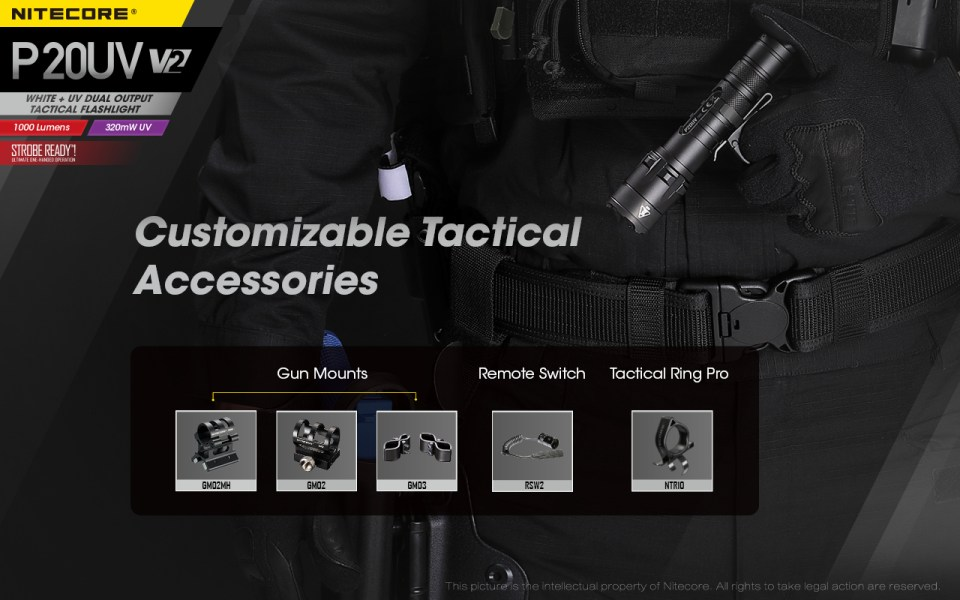 Nitecore tactical flashlight accessories