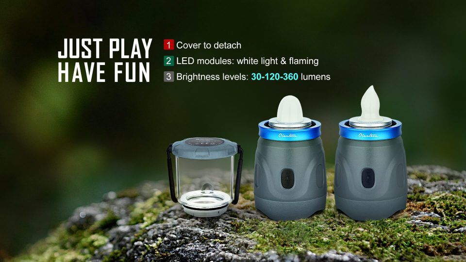 Olight Camping Lantern OLantern white led module and candle led module
