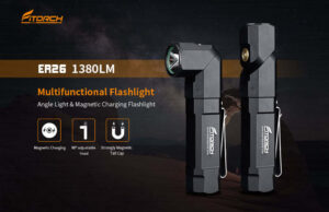Fitorch ER26 straight and right angle headlamp flashlight, task light