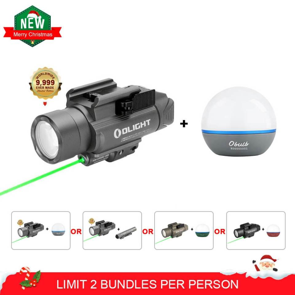 Olight Baldr pro pistol light with olight obulb christmas bundle