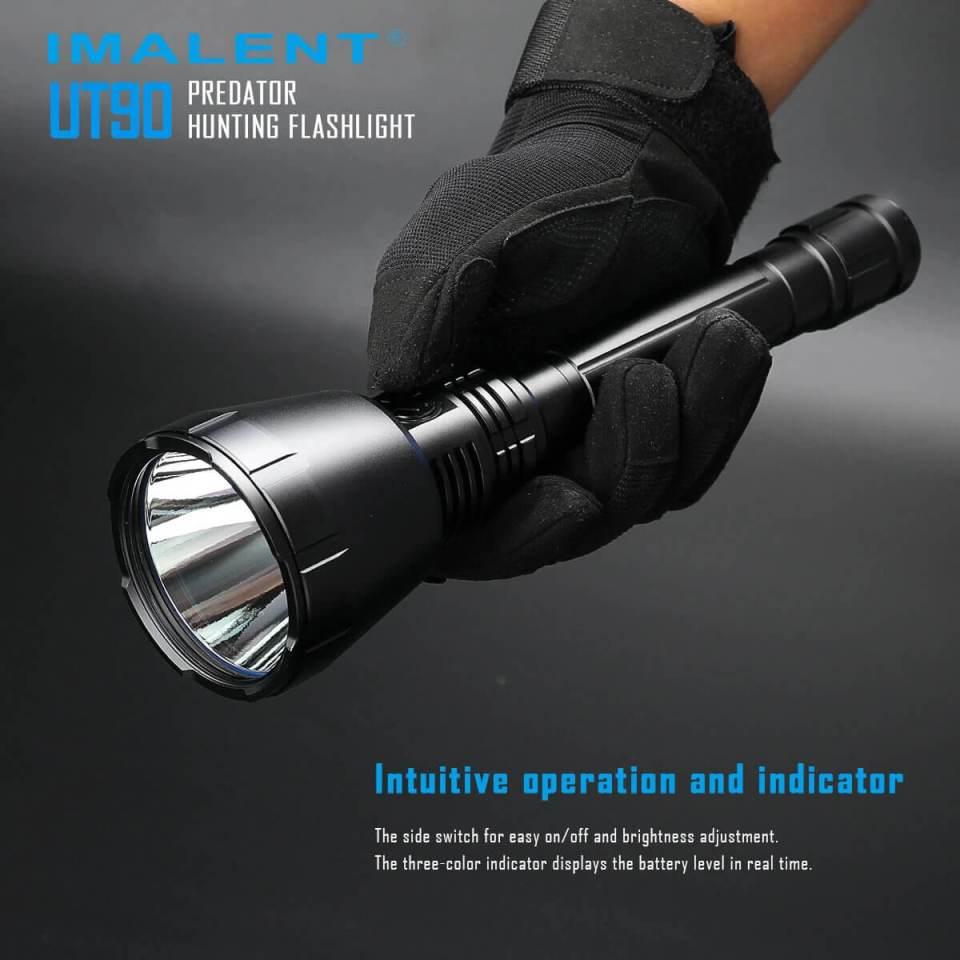 imalent ut90 luminus sbt-90 hunting flashlight side switch use