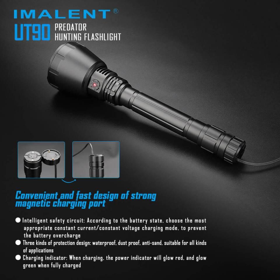imalent ut90 luminus sbt-90 hunting flashlight charging