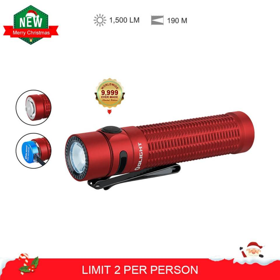Olight warrior mini red limited edition Christmas special