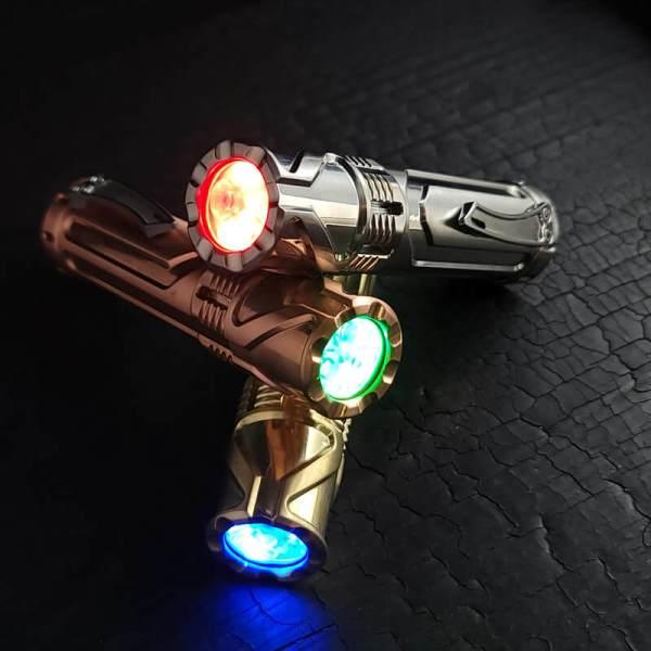 Focus Works x Skelton Bladeworks Cylon custom flashlight with tritium
