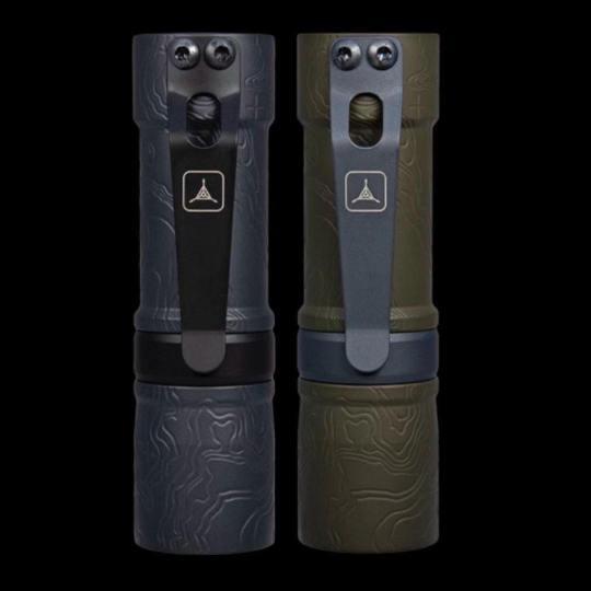 barrel custom flashlight mod 1 topo design aluminum triple aught design edition