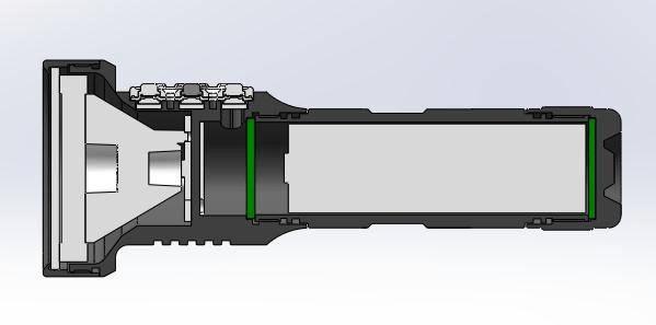 Manker CROWN adjustable focus zoomie flashlight