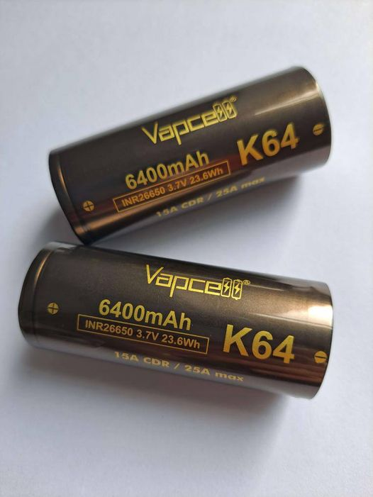Vapcell K64 6400mAh 26650