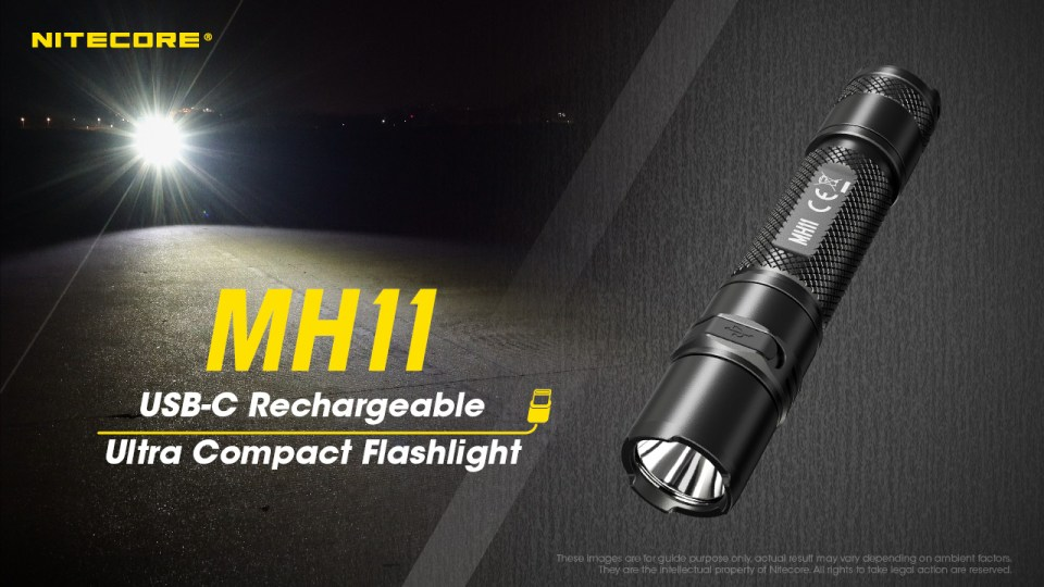 Nitecore MH11 USB C rechargeable flashlight