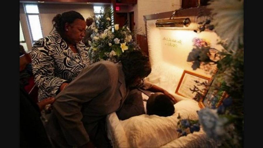 Bernie Mac Funeral Casket