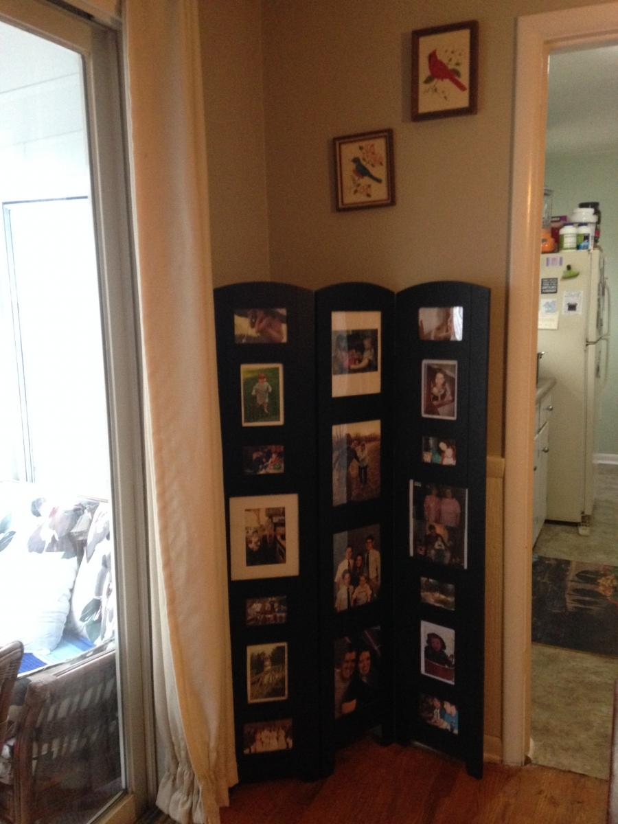 Tri Fold Floor Standing Photo Frames