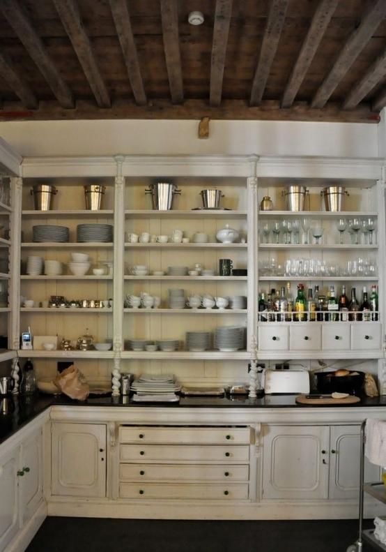 Doorless Cabinets Photos