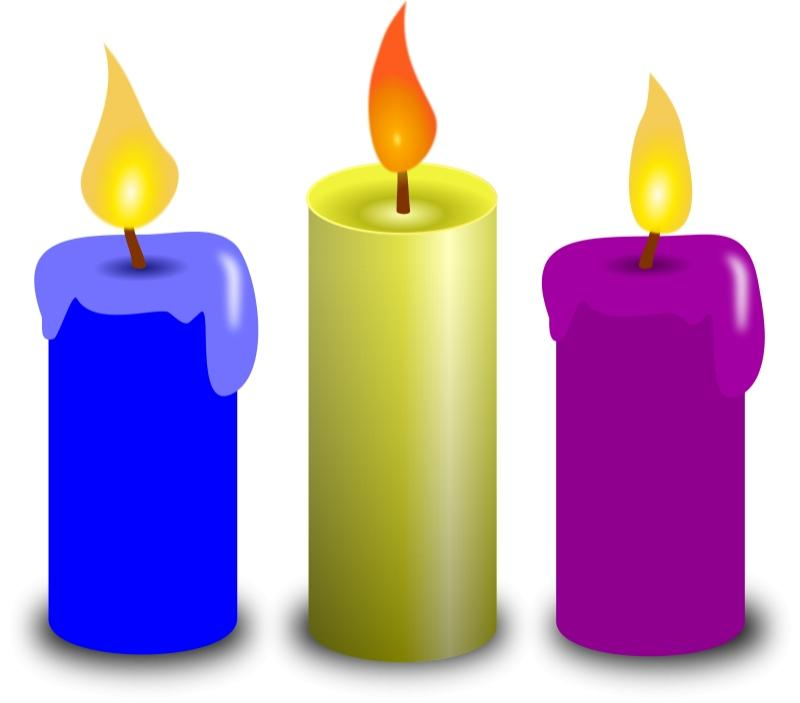 Blue Birthday Candle Clip Art