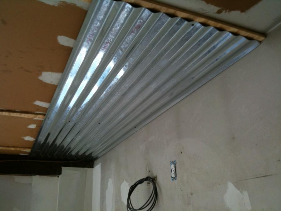 Ceilings Pictures Corrugated Metal Red