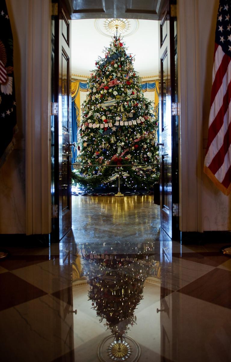 2012 Christmas Tree White House Blue Room