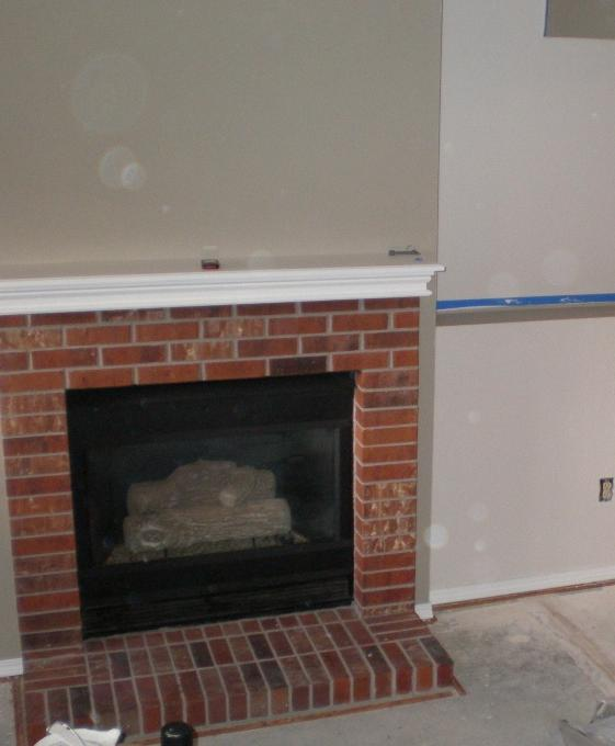 Fireplace Brick And Red After