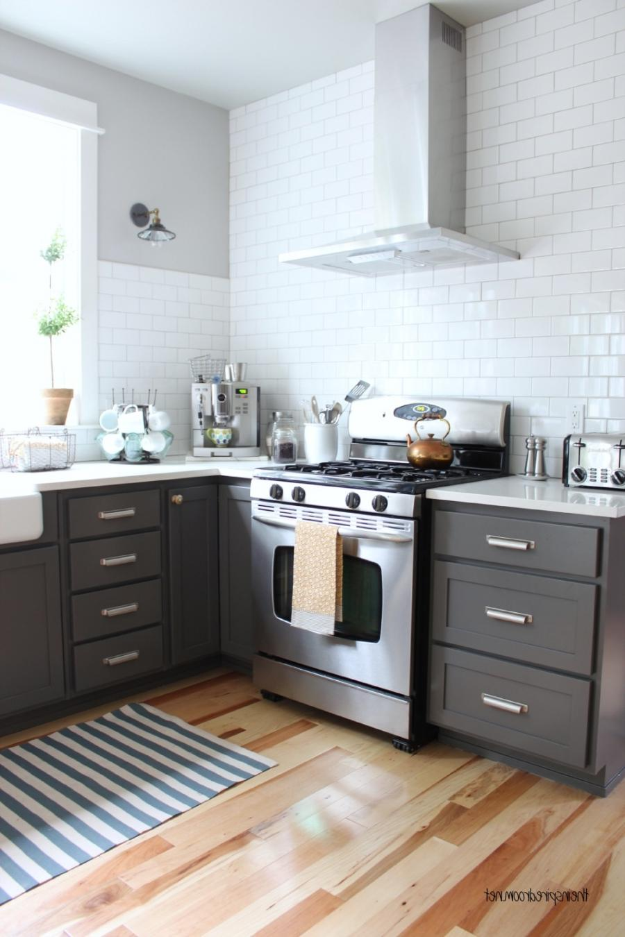 Small Grey And White Kitchen