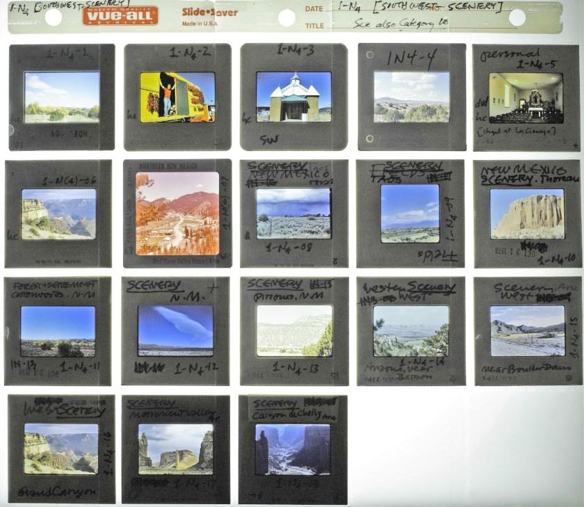Planche diapositives Archives John Brinckerhoff Jackson