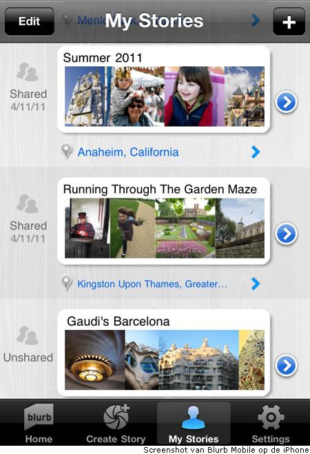 Blurb introduceert app voor online verhalen delen