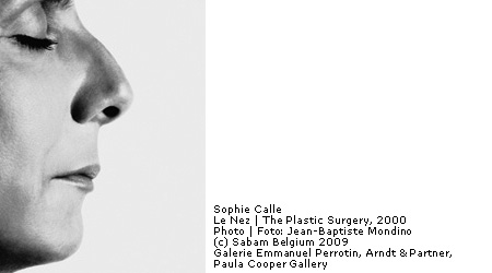 Sophie Calle in Brussel